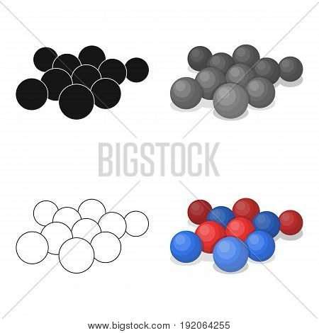Balls for paintball.Paintball single icon in cartoon style vector symbol stock illustration .