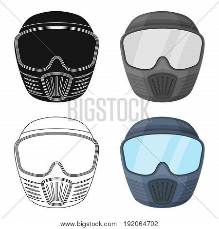 Protective mask.Paintball single icon in cartoon style vector symbol stock illustration .
