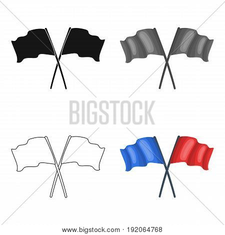 Red and blue flags.Paintball single icon in cartoon style vector symbol stock illustration .