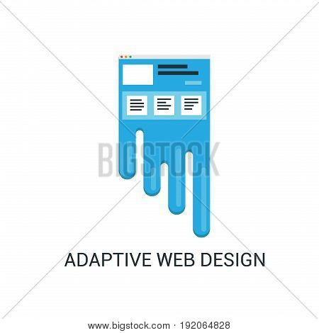 Adaptive web design abstract vector illustration in flat style. Website flexibility concept.