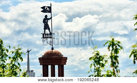 Symbol of founding Tomsk city. Siberia. Russia.