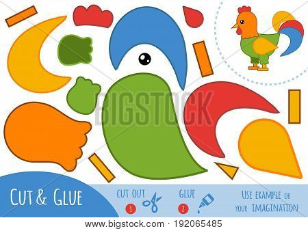 Education Paper Game For Children, Rooster