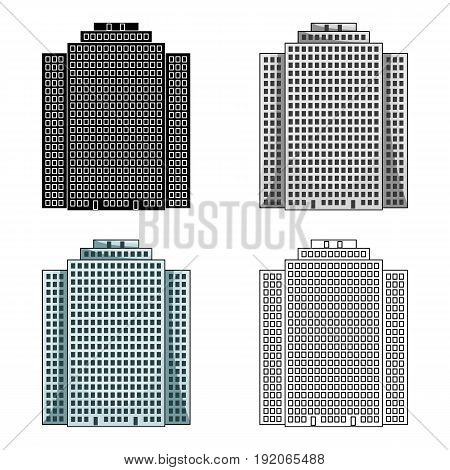 High-rise building, skyscraper, Realtor single icon in cartoon style vector symbol stock illustration .