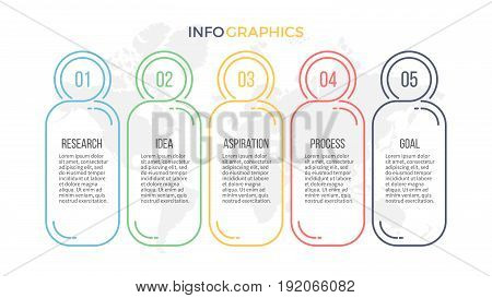 Business infographics. Presentation with 4 options. Vector template.