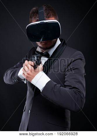 Gangster Man Aiming The Gun