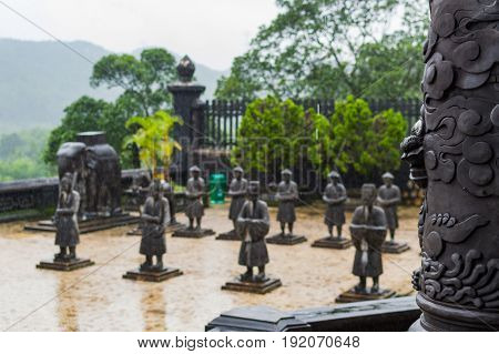 Statues Of Warriors In Imperial Khai Dinh