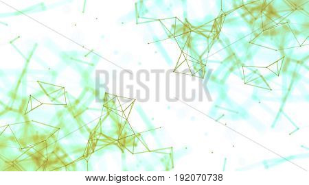 Abstract geometry surfaces, lines and points background, Used as digital wallpaper and technology background. 3d rendering