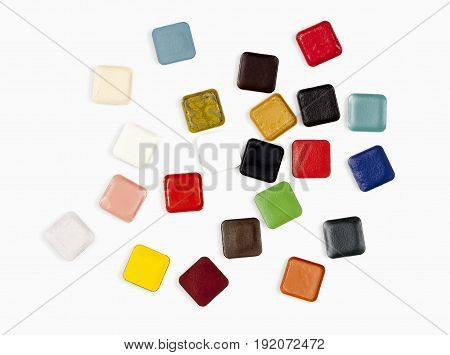 Palette of Water Resistant Alcohol Based Makeup Colors.