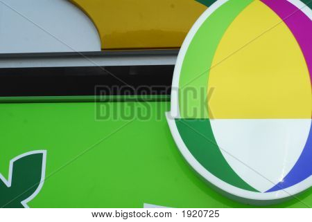Abstract Composition Of An Outdoor Metal Sign