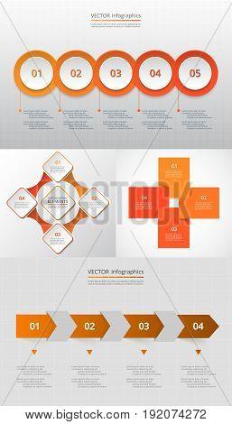 Vector Circle Infographic Set.