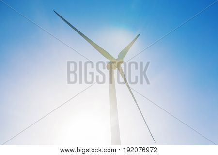 Powerful and ecological energy concept - Windmill for electric power production.