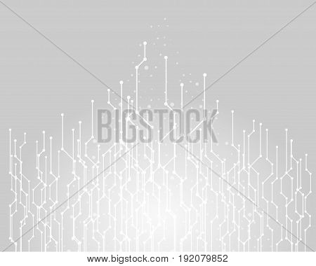 Abstract technology background graphic line connecting vector on gray