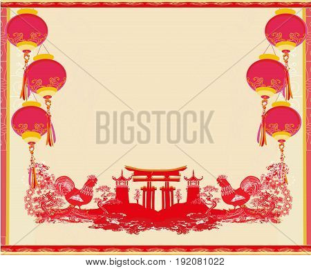 Year of rooster design , vector illustration