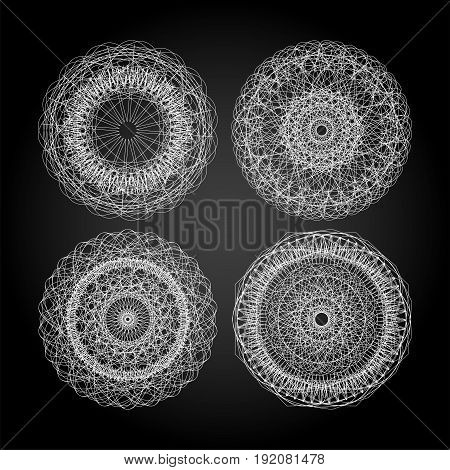 Mandala For Painting. Circle Ornament. Design Element. Guilloche