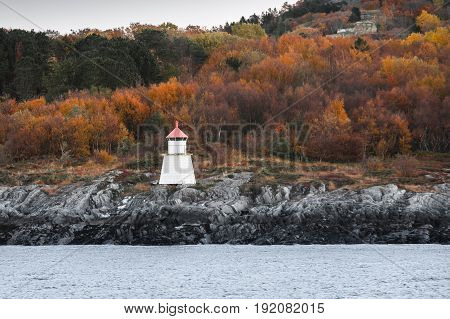 Traditional Norwegian Lighthouse Tower