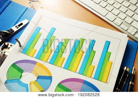 Folder with business data. Financial analysis concept.