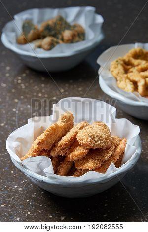Deep-fried chicken breast. Korean traditional food .
