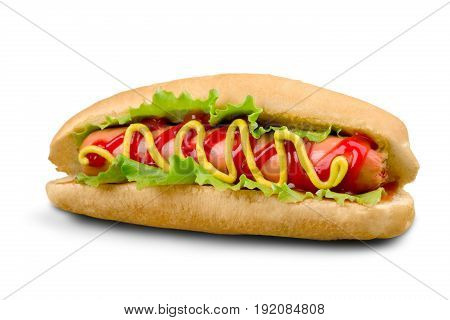 Barbecue hot grilled hot dog red yellow white