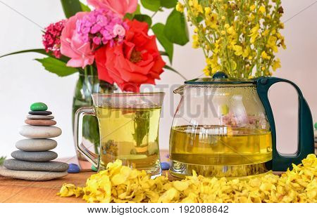King tea candle&Calba weed tea & cattle tail herb tea