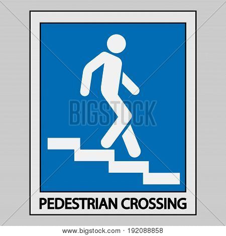 icon descent down the stairs sign fully editable image
