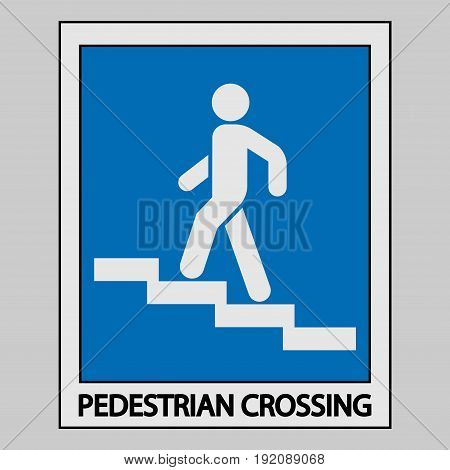 icon descent up the stairs sign fully editable image