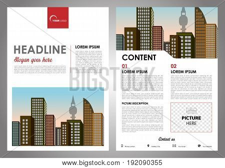 Vector Flyer, Corporate Business, Annual Report, Brochure Design And Cover Presentation With Red Rec