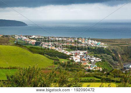 View Of Porto Formoso On Sao Miguel Island, Azores