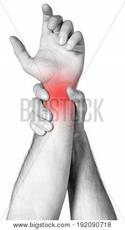 Holding arm another image white background design