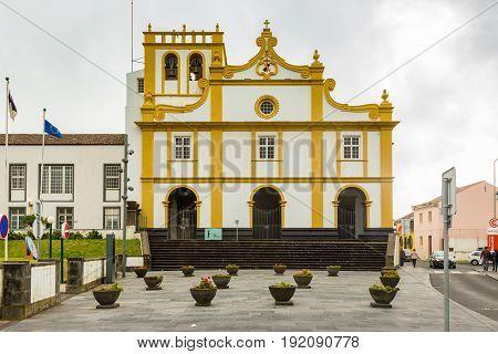 Church In Ribeira Grande On Sao Miguel Island, Azores