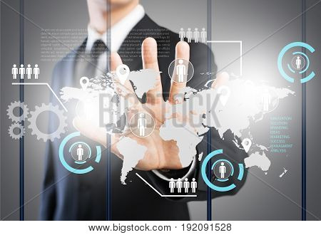Business man businessman key people male connected