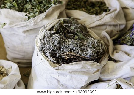 Aromatic Herbs In A Market