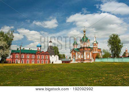 View Of Assumption Brusensky Female Monastery On Territory Of Kolomna Kremlin In Sunny Spring Day In Kolomna Moscow Region Russia.