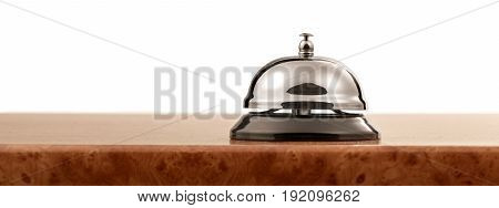 Bell service object reflection business counter metal