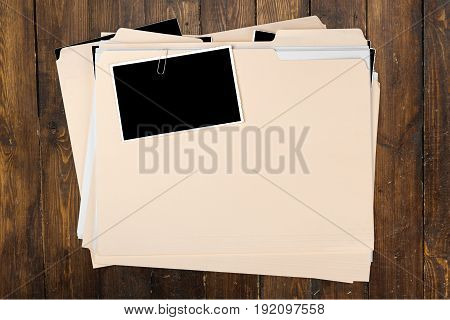 Document folder manila yellow background object nobody
