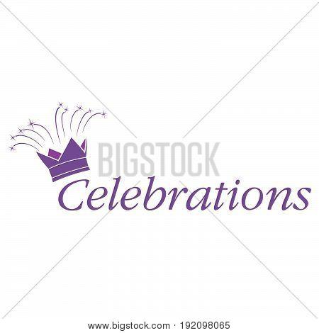 Celebrations text vector logo design template .