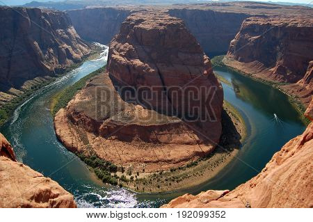 Horseshoe band Arizona on Colorado river, USA