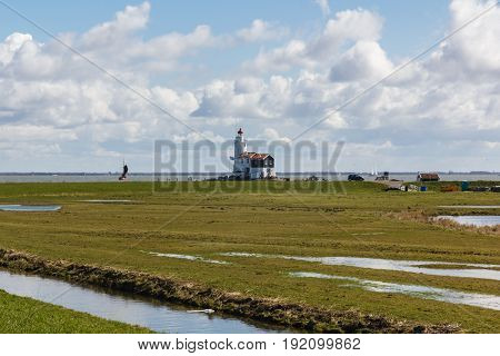 Het Paard lighthouse in Marken, The Netherlands
