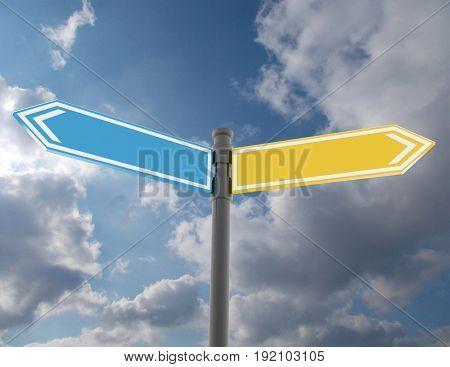 road sign concept . 3d rendered illustration