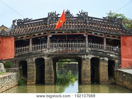 Chinese bridge - the tourism sight and travel destination in Hoi An, Vietnam