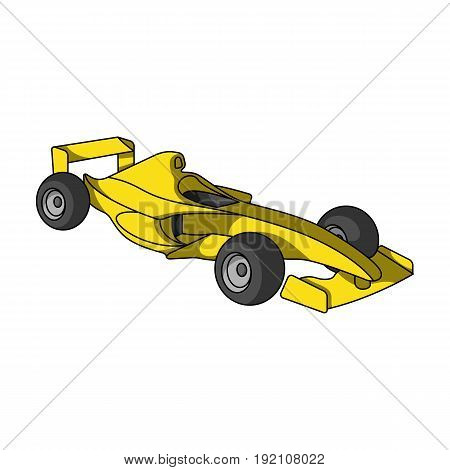 Car racing.Extreme sport single icon in cartoon style vector symbol stock illustration .