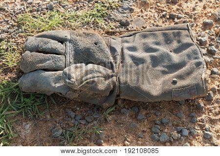 Old Grungy Work Gloves.