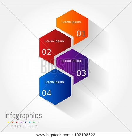 Abstract hexagon business Infographics elements vector illustration for web design marketing advertising