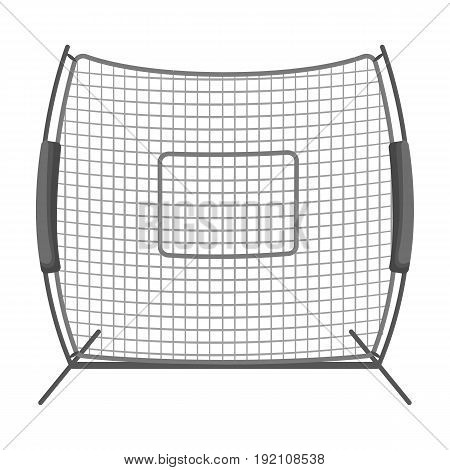 Protective fencing.Baseball single icon in monochrome style vector symbol stock illustration .