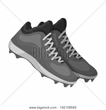 Baseball Sneakers. Baseball single icon in monochrome style vector symbol stock illustration .
