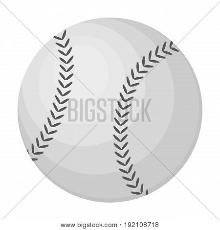 Ball for baseball. Baseball single icon in monochrome style vector symbol stock illustration .