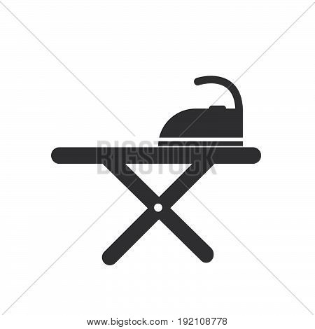 Ironing Board icon filled flat sign solid glyph pictogram vector illustration
