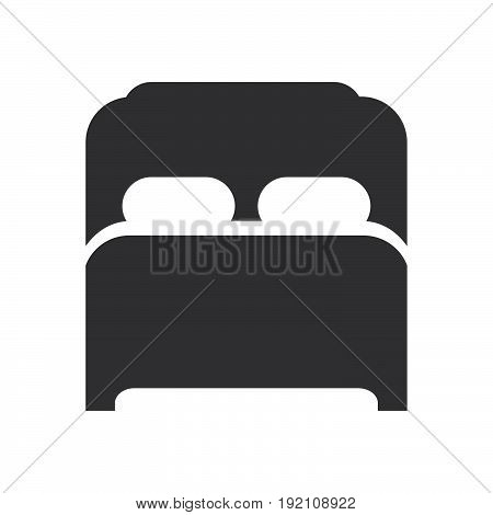 Double bed icon filled flat sign solid glyph pictogram vector illustration