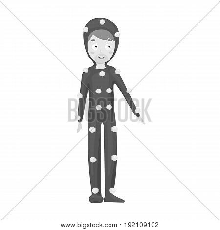 Suit with light bulbs. Making a movie single icon in monochrome style vector symbol stock illustration .