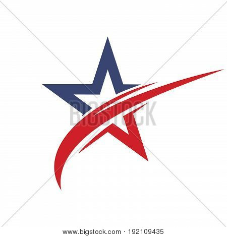 Star vector logo design. eader boss star, winner, star rating, rank. Star astrology symbol. Starburst logo isolated. Sport star logo. Astronomy star logo.