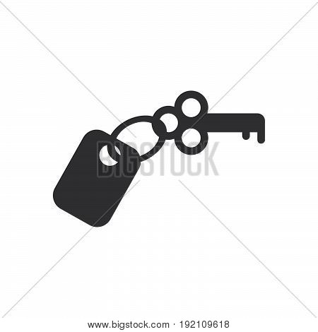 Hotel room key icon filled flat sign solid glyph pictogram vector illustration